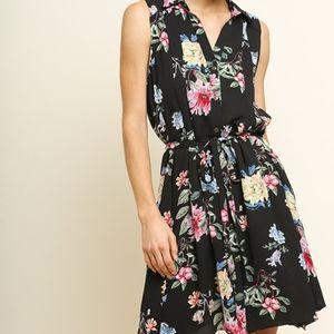 NWT Floral Print Tie Waist Dress Size S